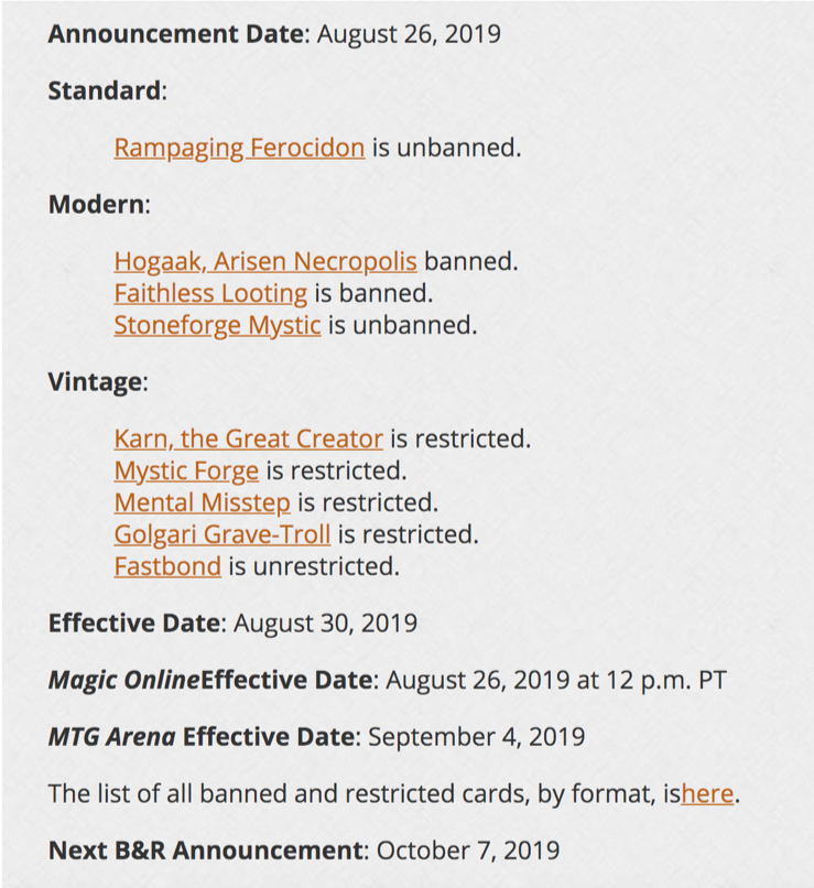 Modern Times Week Of September 1 Cardsphere Blog